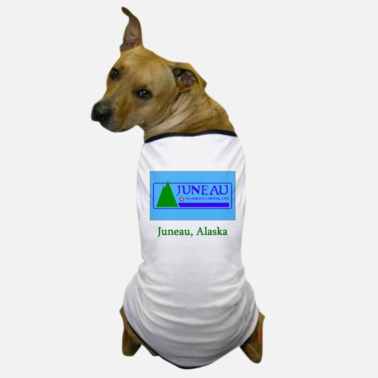 Juneau AK Flag Dog T-Shirt