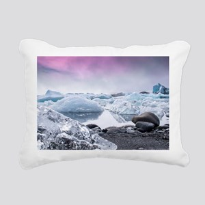 Glaciers of Iceland Rectangular Canvas Pillow