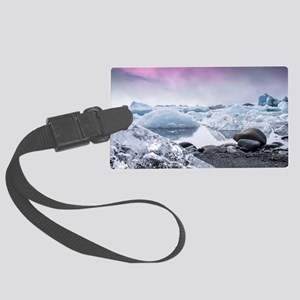 Glaciers of Iceland Large Luggage Tag