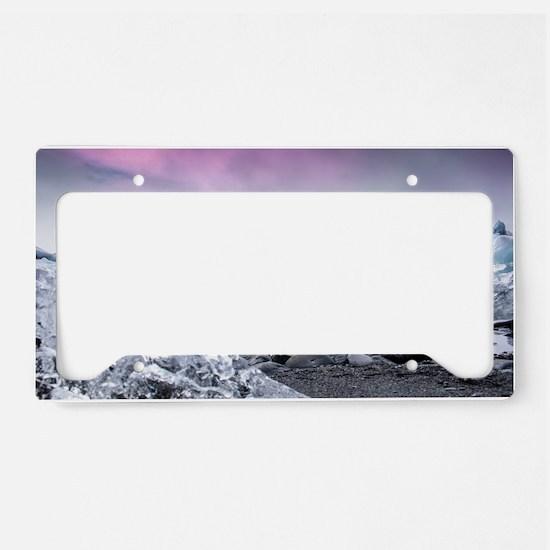 Glaciers of Iceland License Plate Holder