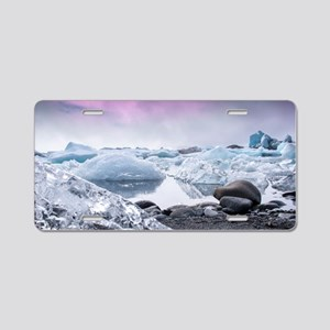Glaciers of Iceland Aluminum License Plate