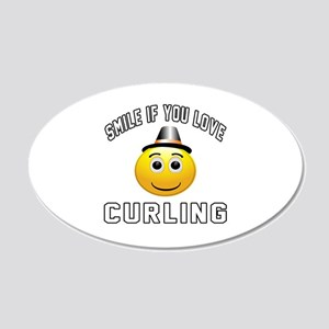 Curling Cool Designs 20x12 Oval Wall Decal