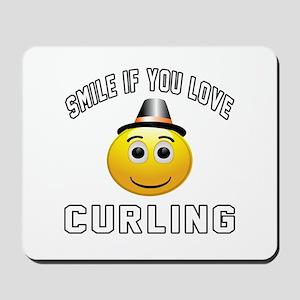 Curling Cool Designs Mousepad
