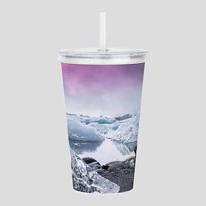 Glaciers of Iceland Acrylic Double-wall Tumbler