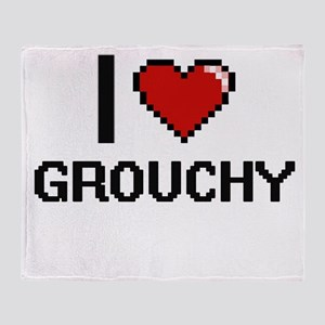 I love Grouchy Throw Blanket