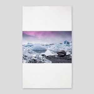 Glaciers of Iceland Area Rug