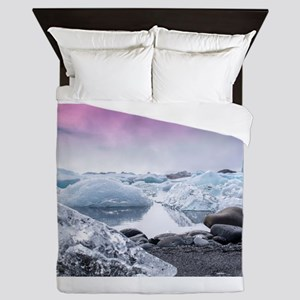 Glaciers of Iceland Queen Duvet