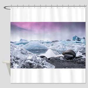 Glaciers Of Iceland Shower Curtain