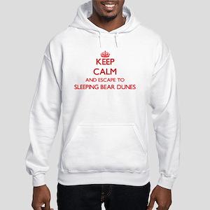 Keep calm and escape to Sleeping Hooded Sweatshirt