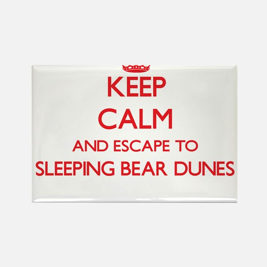 Keep calm and escape to Sleeping Bear Dune Magnets