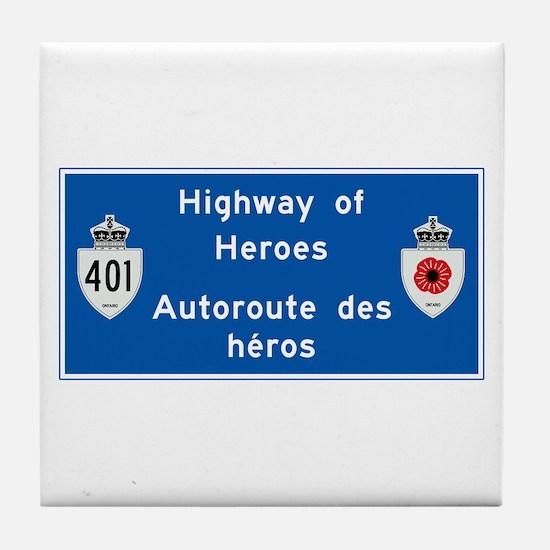Highway of Heroes 410, Canada Tile Coaster
