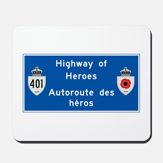 Highway of Heroes 410, Canada Mousepad
