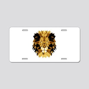 Lion Aluminum License Plate