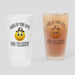 Dog Training Cool Designs Drinking Glass