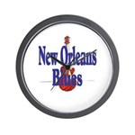 New Orleans Blues Wall Clock