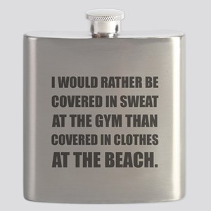 Covered In Sweat Flask
