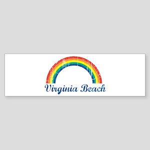 Virginia Beach (vintage rainb Bumper Sticker