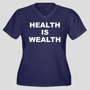 H.i.w. Women's V-Neck Dark Plus Size T-Shirt