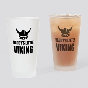 Daddy's Little Viking Drinking Glass