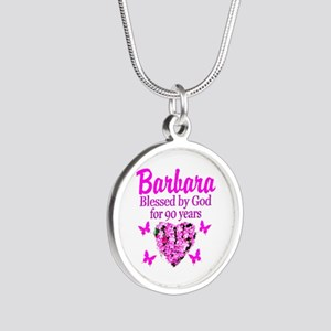 BLESSED 90TH Silver Round Necklace