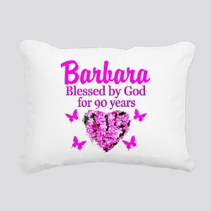 BLESSED 90TH Rectangular Canvas Pillow