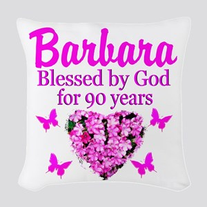 BLESSED 90TH Woven Throw Pillow