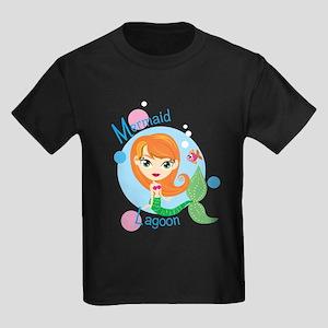 Mermaid Lagoon Kids Dark T-Shirt