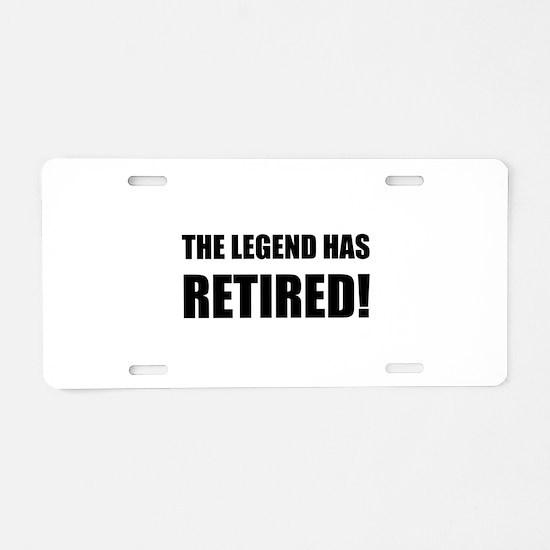 Legend Has Retired Aluminum License Plate