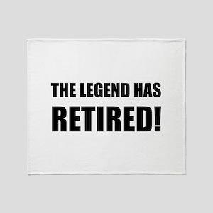 Legend Has Retired Throw Blanket