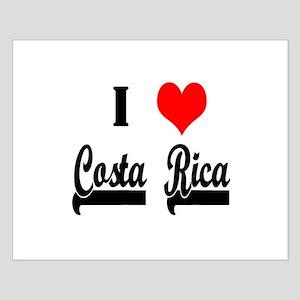 I Love Costa Rico Small Poster