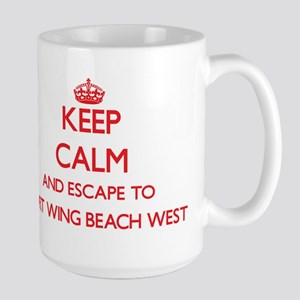 Keep calm and escape to Port Wing Beach West Mugs