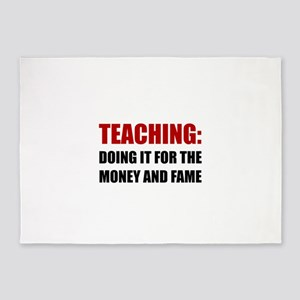 Teaching Money Fame 5'x7'Area Rug