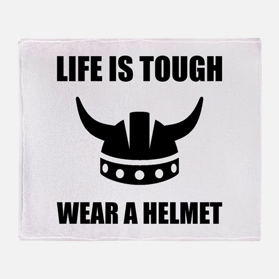 Viking Helmet Throw Blanket