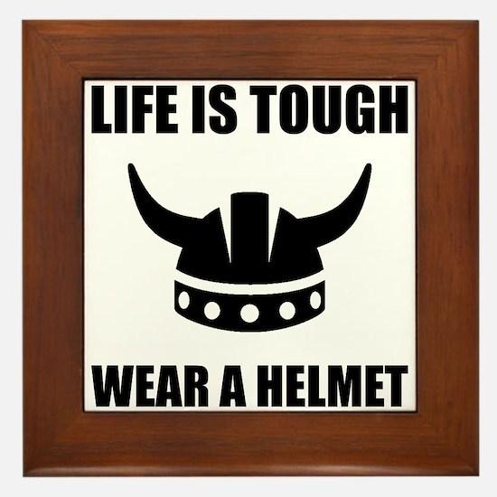 Viking Helmet Framed Tile