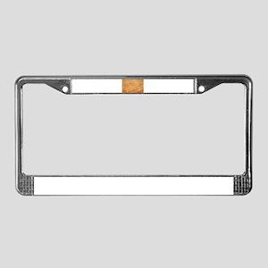 Finally Peace License Plate Frame
