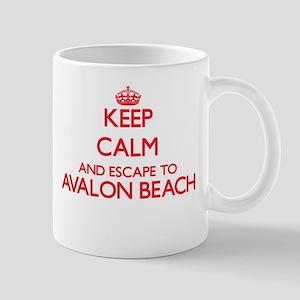 Keep calm and escape to Avalon Beach Californ Mugs