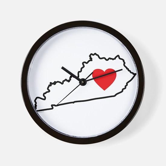 I Love Kentucky Wall Clock