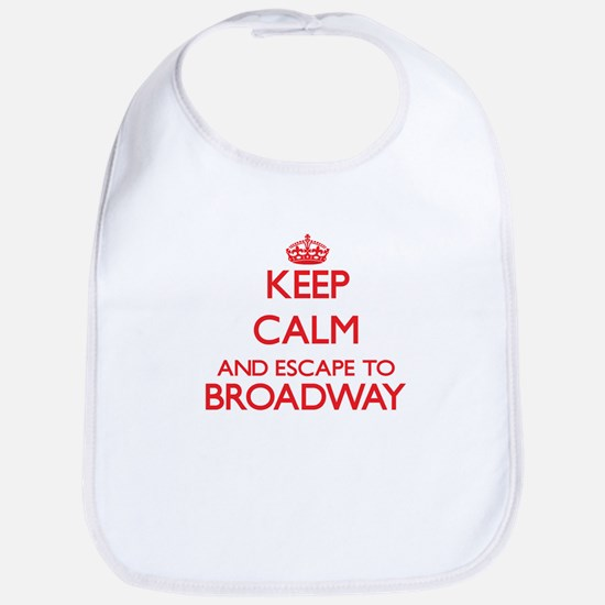 Keep calm and escape to Broadway New Jersey Bib