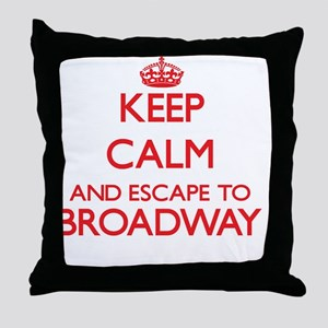 Keep calm and escape to Broadway New Throw Pillow