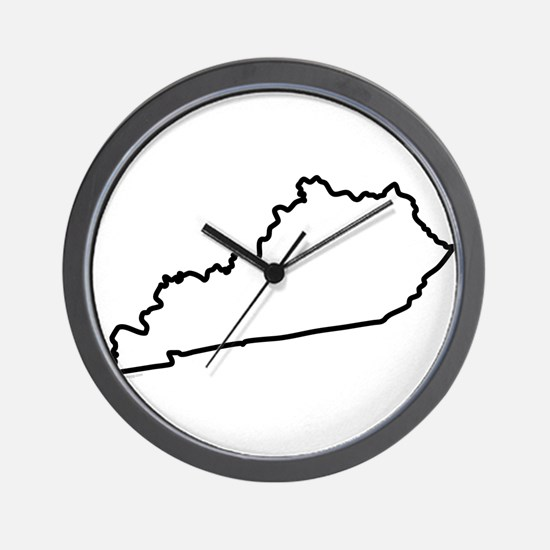 Kentucky State Outline Wall Clock