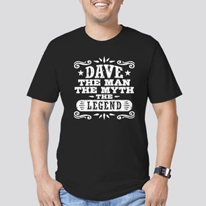 Funny Dave Men's Fitted T-Shirt (dark)