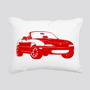 NA Red Rectangular Canvas Pillow