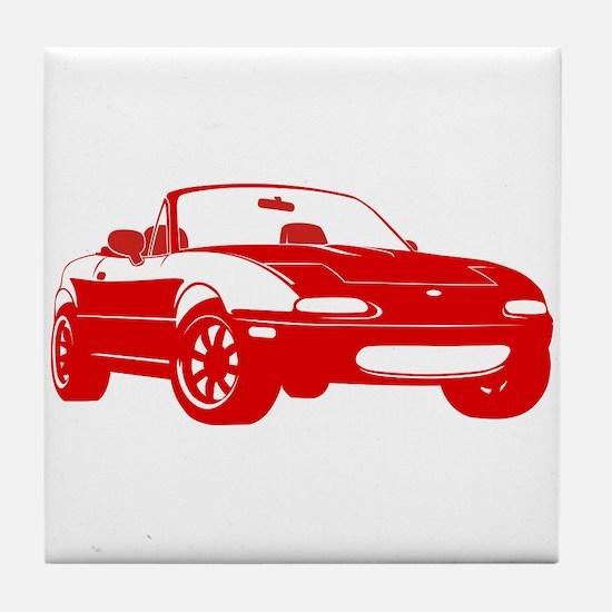NA Red Tile Coaster
