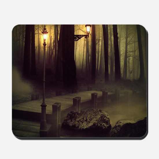 Misty Boardwalk Mousepad