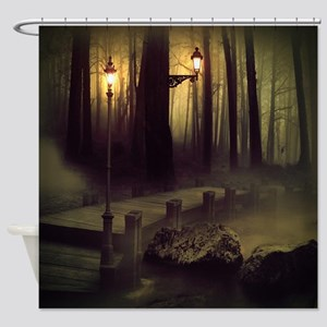 Misty Boardwalk Shower Curtain
