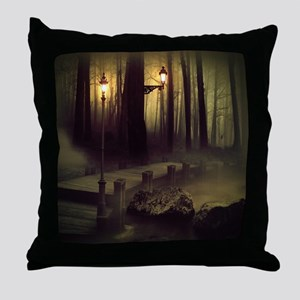 Misty Boardwalk Throw Pillow