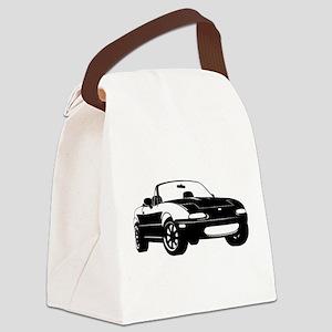 NA Black Canvas Lunch Bag