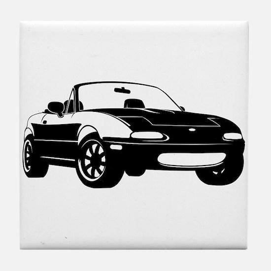 NA Black Tile Coaster