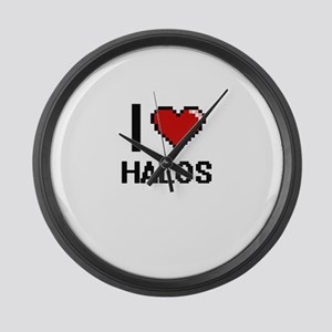 I love Halos Large Wall Clock