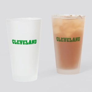 Cleveland Name Weathered Green Desi Drinking Glass